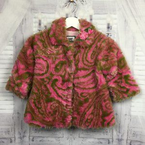 Corky & Co Pink Green Toddler Girl Coat 2T